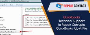 Quickbooks-Technical-Support-to-Repair-Corrupted-QuickBooks-(qbw)-File